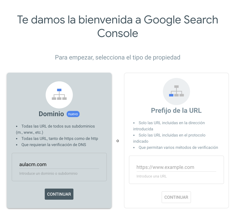 como instalar google search console