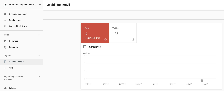 Informe de usabilidad móvil - Nueva Google Search Console