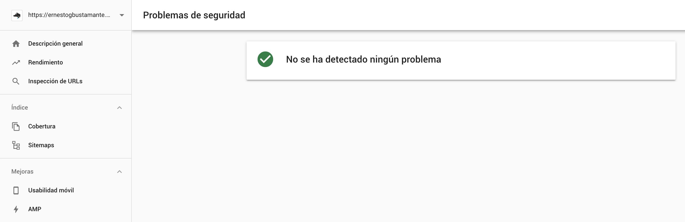 Problemas de seguridad - Nueva Google Search Console